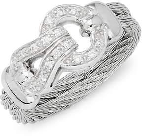 Alor Women's 18K White Gold, Stainless Steel & Diamond Ring