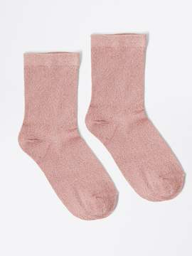 Frank and Oak Ankle Lurex Socks in Rose Gold