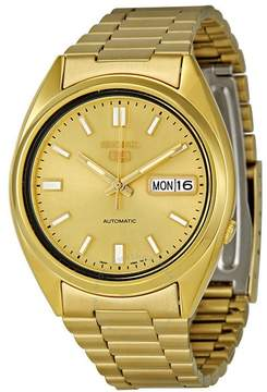 Seiko Series 5 Automatic Gold Dial Men's Watch