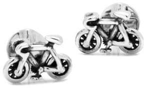 Cufflinks Inc. Silvertone Moving Parts Bicycle Cuff Links