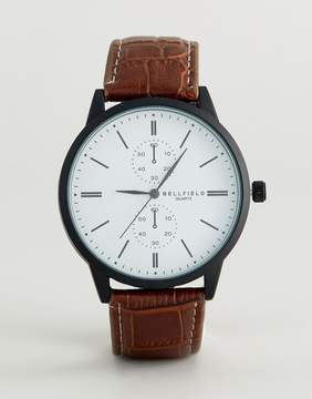 Bellfield Watch With White Dial And Black Strap