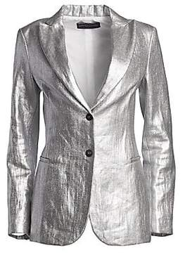Fabiana Filippi Fabiana Filippi Women's Metallic Linen Two-Button Blazer