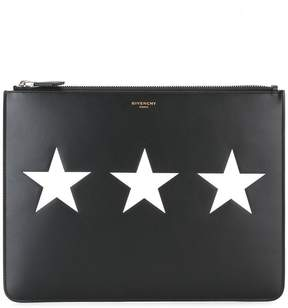 Givenchy triple star print pouch