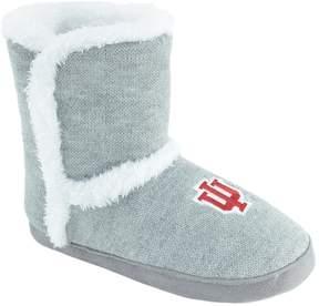NCAA Women's Indiana Hoosiers Striped Boot Slippers