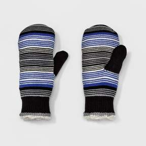 Isotoner Women's smartDRI Knit Mittens - Black