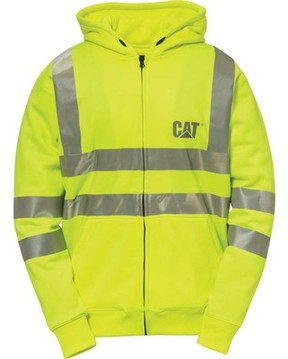 Caterpillar HI VIS Full Zip Lined Sweatshirt (Men's)