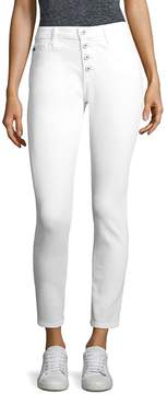 AG Adriano Goldschmied Women's Farrah High-Rise Button-Fly Ankle Skinny Jeans