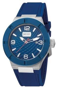 Just Cavalli Men's Rock Quartz Multiple Colors Rubber Strap Watch.
