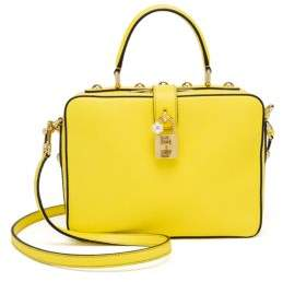 Dolce & Gabbana Leather Top-Handle Bag - LIGHT YELLOW - STYLE