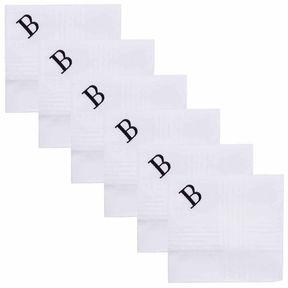 Dockers 100% Cotton 6 Piece Monogrammed Handkerchief Set