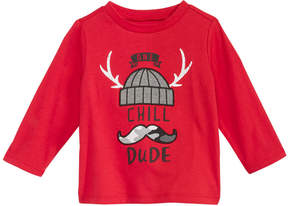 First Impressions Chill Dude-Print Cotton T-Shirt, Baby Boys (0-24 months), Created for Macy's