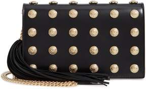 Balmain Coin Medallion Leather Crossbody Bag