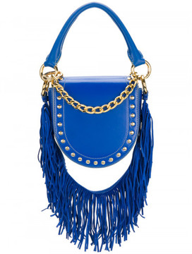 Sacai Mini Horse studded fringed strap shoulder bag