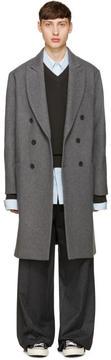 Ami Alexandre Mattiussi Grey Oversized Wool Coat