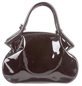 Saint Laurent Patent Leather Handle Bag - BLACK - STYLE