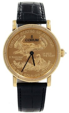Corum Yellow Gold Heritage Coin $50 Dial 36mm Unisex Watch