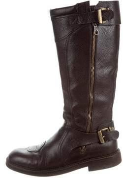 Dries Van Noten Grain Leather Tall Boots