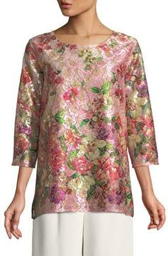 Caroline Rose Tickled Pink Lace Party Top