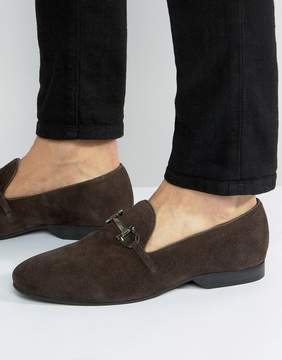 Frank Wright Bar Loafers Brown Suede