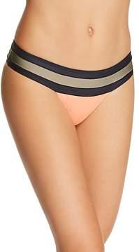 Pilyq Banded Color-Block Bikini Bottom