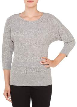 Allison Daley 3/4 Dolman Sleeve Wide Crew-Neck Pullover