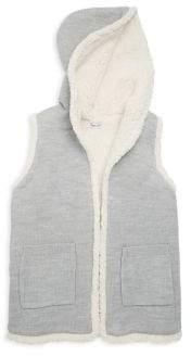 Splendid Girl's Open-Front Sherpa-Lined Vest