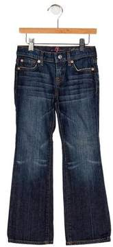 7 For All Mankind Girls' Five Pockets Wide-Leg Jeans