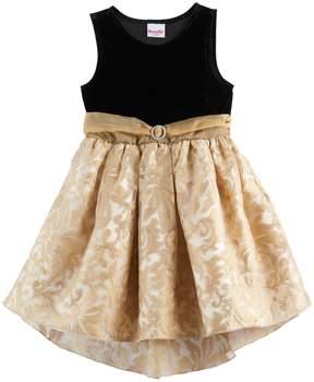 Nannette Girls 4-6x Velvety Knit Dress