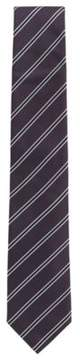 BOSS Hugo Striped Italian Silk Tie One Size Dark pink