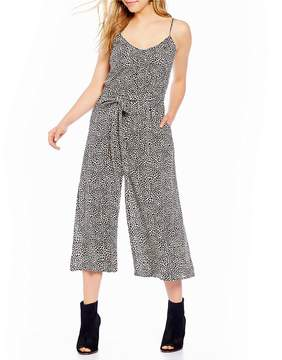 Billabong Wild Hearts Leopard Printed Cropped Jumpsuit