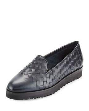 Sesto Meucci Naia Woven Leather Loafer, Navy