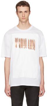 Helmut Lang White Glitch Logo T-Shirt
