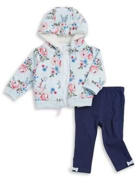 Little Me Baby's Three-Piece Shirt, Hoodie and Leggings Set