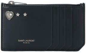 Saint Laurent Fragments zip wallet - BLACK - STYLE