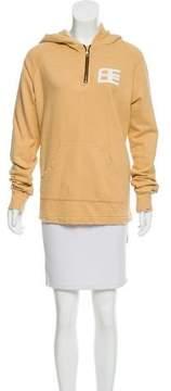 Baja East Distressed Printed Sweatshirt