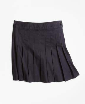 Brooks Brothers Pleated Chino Skirt