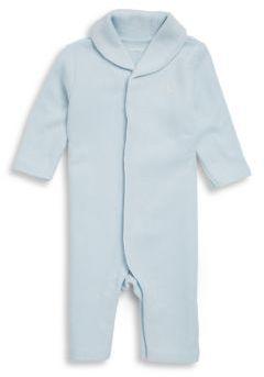 Ralph Lauren Baby's Cotton Long-Sleeve Bodysuit