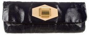 Lanvin Long Patent Leather Clutch
