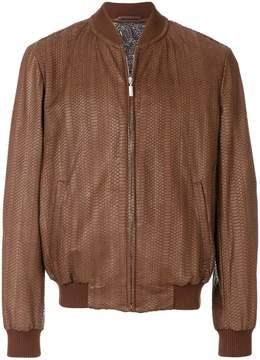 Brioni long sleeved bomber jacket