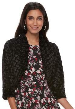 Elle Women's ElleTM Faux-Fur Bolero Jacket