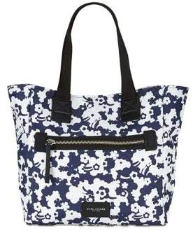 Marc Jacobs Floral Print Nylon Tote - BLUE MULTI - STYLE