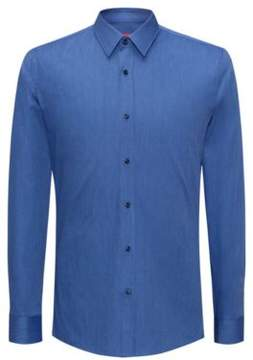 HUGO Boss Cotton Blend Dress Shirt, Extra Slim Fit Elisha 17 Dark Blue
