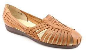 Softspots Trinidad Women W Round Toe Leather Brown Flats.