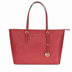 Michael Kors Jet Set Medium Travel Saffiano Leather Tote - Burnt Red - ONE COLOR - STYLE