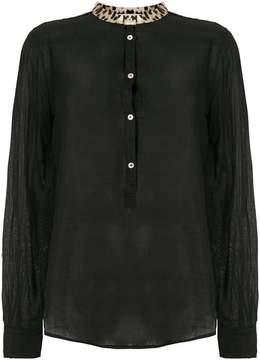 Forte Forte leopard neck shirt