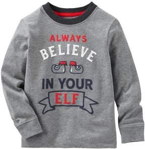 Osh Kosh Toddler Boy Always Believe In Your Elf Graphic Tee