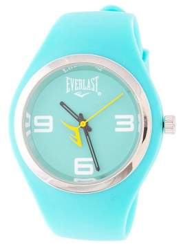 Everlast Soft Touch Rubber Strap and Case with Metal Bezel Watch - Turquoise