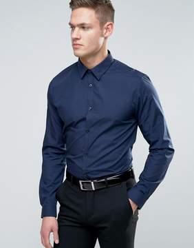 New Look Regular Fit Poplin Shirt In Navy