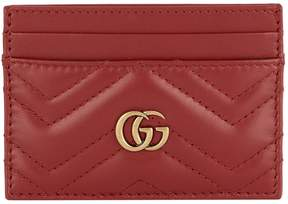 Gucci Quilted Marmont Card Holder - RED - STYLE