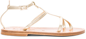 K. Jacques Leather Gina Sandals in Metallics.